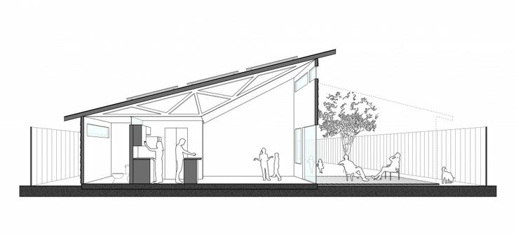 Habitat For Humanity Adopts Student House Design---- beautiful and simple section perspective