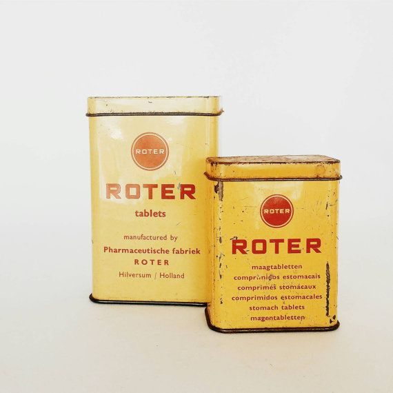 Bekijk dit items in mijn Etsy shop https://www.etsy.com/listing/266962571/roter-small-tins-two-small-roter-vintage