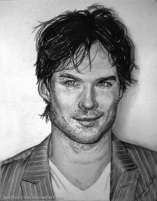 17 best images about ian somerhalder dessin on pinterest - Vampire diaries dessin ...