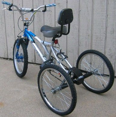 TrikeZilla Conversion Axle. Turn any 2 wheel bicycle into a 3 wheel bicycle using this axle kit. Ideal for kids with special needs or balance problems