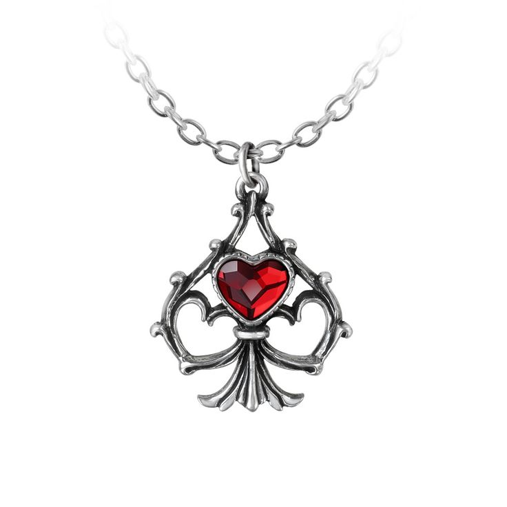 Alchemy Gothic Lucky In Love Pendant Necklace Hearts Spade A magical and fortuitous union between the ace of hearts and the ace of spades, leading, inevitably, only to the most blessed and happy of ou