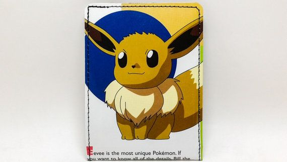 Sewn Comic Book Wallet Pokemon Handbook Wallet by DuctTuff