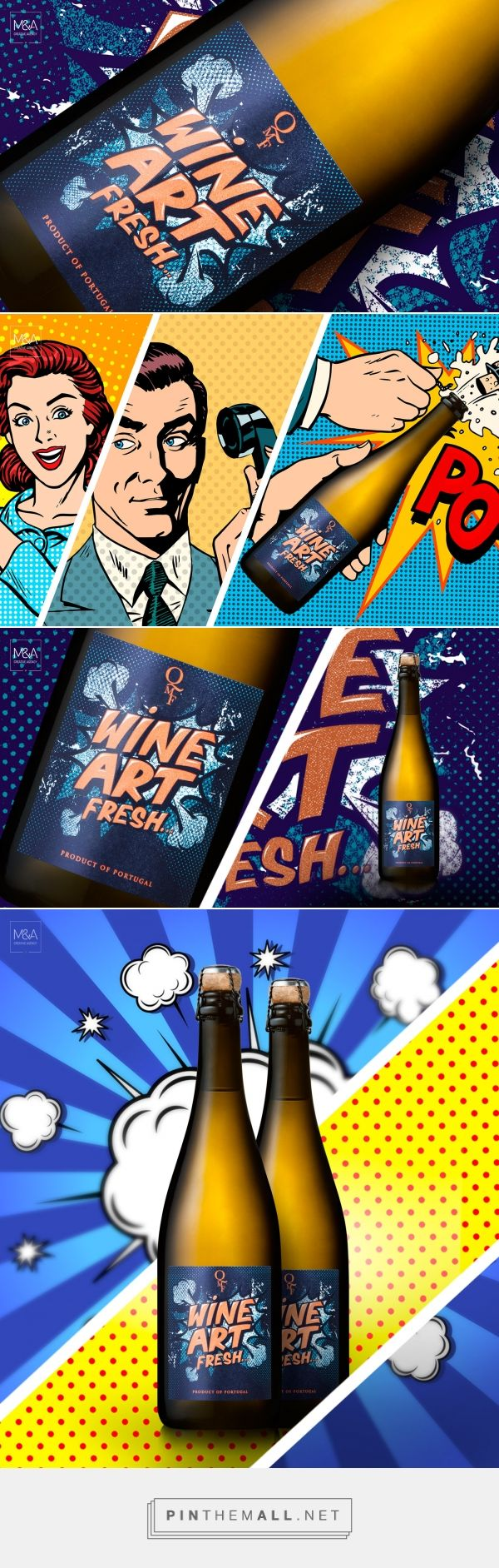 Wine Art - Packaging of the World - Creative Package Design Gallery - http://www.packagingoftheworld.com/2017/03/wine-art.html