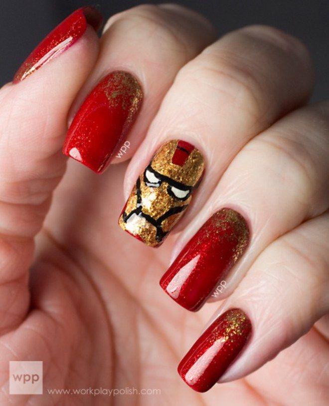 Nail art Homem de Ferro
