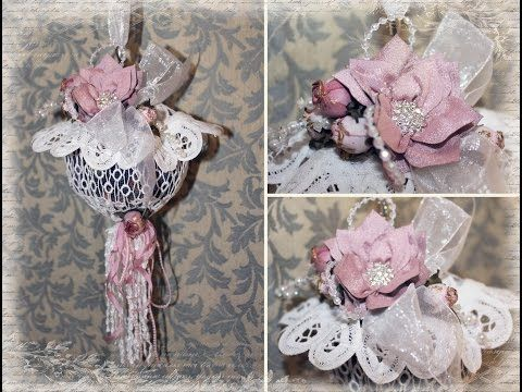 Shabby Chic Hanging Potpourri / Pomander Ball with Tresors de Luxe
