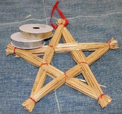 Halmstjärna som kan göras med papper
