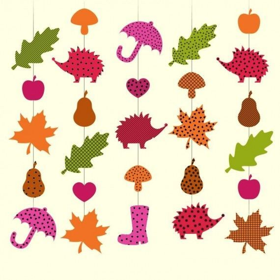 Herbstketten Pdf Mobile Basteln Papier Basteln Herbst Kinder Basteln Papier