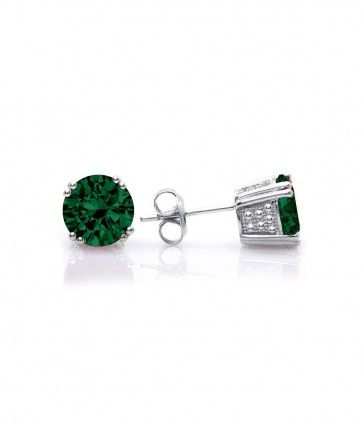 Fancy Emerald Color Stud Earrings Made With Swarovski Crystals Now Http
