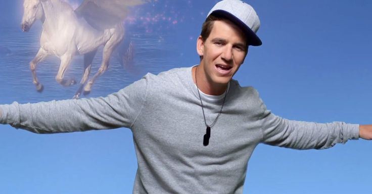 "Peyton and Eli Manning star in a ""Football Fantasy"" rap video for DirecTV."