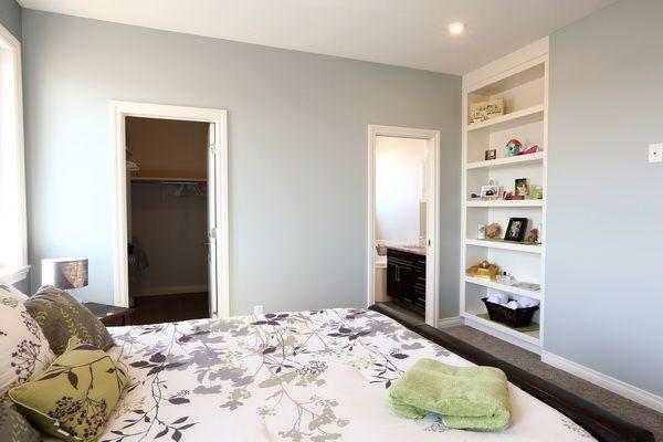 Custom Bookshelf in Owner's Suite.