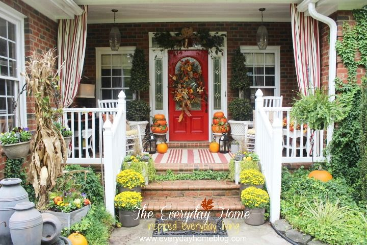 1000+ Ideas About Fall Front Porches On Pinterest