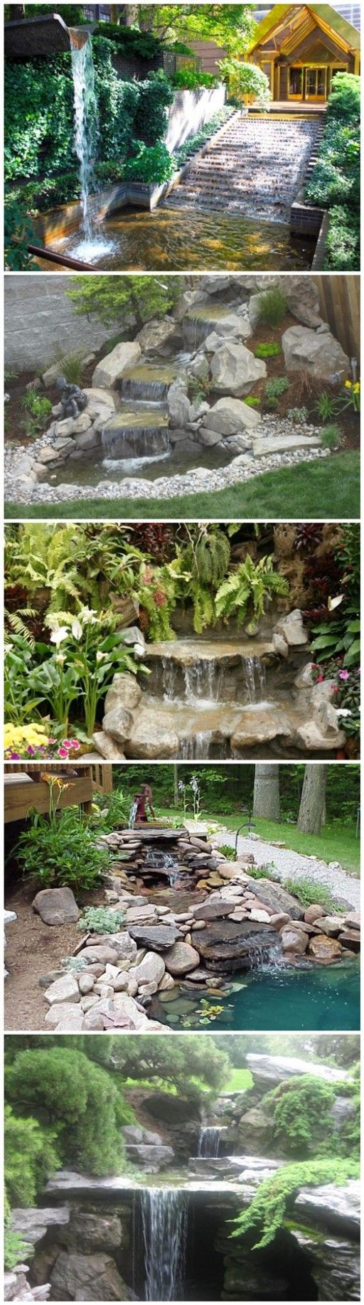 17 best ideas about garden waterfall on pinterest for Landscape ponds and waterfalls pictures