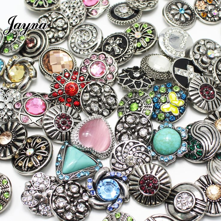50pcs/lot mixed snaps jewelry 18-20mm  snaps buttons fit snaps Bracelets  snaps jewelry Jayna jewelry GS1208135-MIX