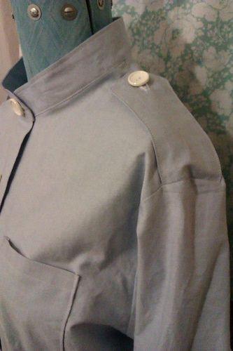 Shoulder of nurse's dress