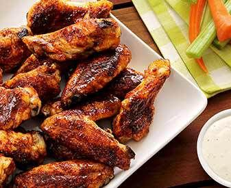 Spicy & Sweet Chipotle-Honey Baked Chicken Wings Recipe