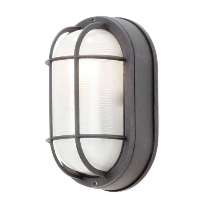 9 best outdoor lighting images on pinterest exterior lighting hampton bay black outdoor oval bulkhead wall light mozeypictures Images
