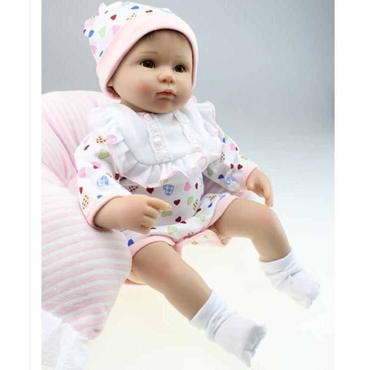 Cheap Cute16 '' / 40 cm silicona muñecas Reborn con ropa, realista nacidos bebé renacida muñeca Plaything para los niños envío gratis, Compro Calidad Muñecas directamente de los surtidores de China:           Cute16''/40 cm silicona Renacer Baby Dolls con la ropa, realista bebé recién nacido-renace