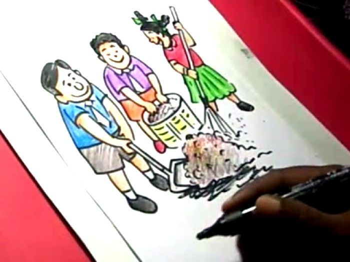 Best Drawing Ideas Clean And Green City With Images Drawing