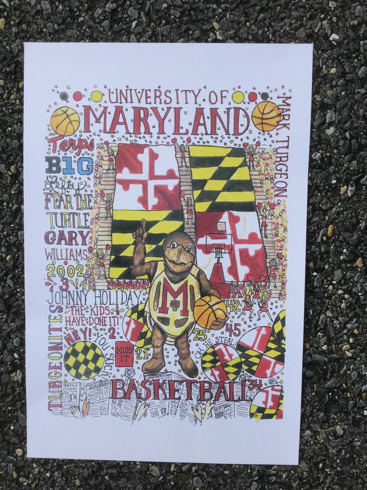Maryland Map Coordinates%0A MAryland Basketball print is available on Etsy com shop name is  HappyPlacePrints