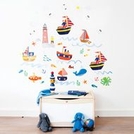 JoJo Maman Bebe Giant Nautical Themed Wall Stickers   £15.00 Part 11