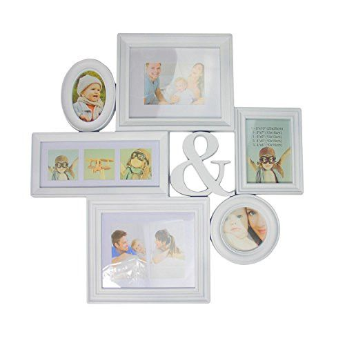Felices Pascuas Collection 27.75 inch White Multi-Sized Photo Picture Frame Collage Wall Decoration