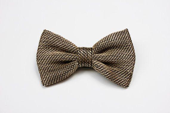 Papillon elegante per uomo nero e oro idea di ScoccaPapillon