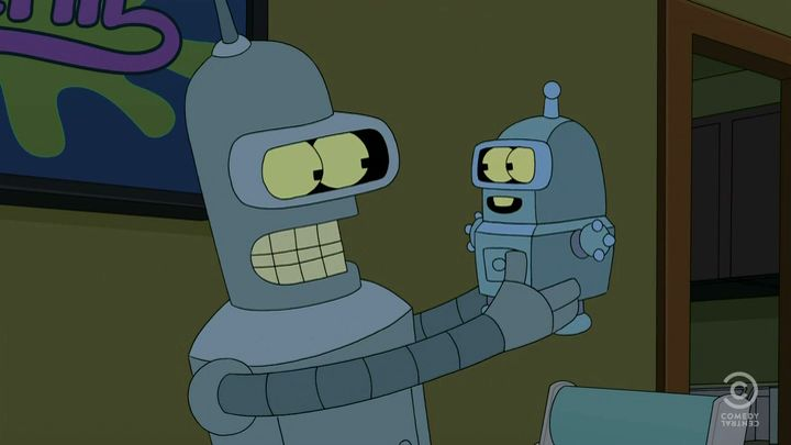 Futurama Season 7 Episode 1 The Bots and The Bees Free iPod iPhone Download for iTunes and Watch  Bender's fight with the new soda machine, Bev (voiced by Wanda Sykes) leads to anger-fueled sexual intercourse -- and a son.   Playable on all models of iPhone, iPod and iPad capable of displaying video. Import directly into iTunes (.mp4 file) Download at http://www.freeipodiphonemovies.com