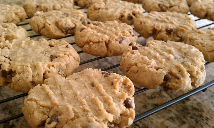 Peanut Butter, Oatmeal, & Chocolate Chip Cookies