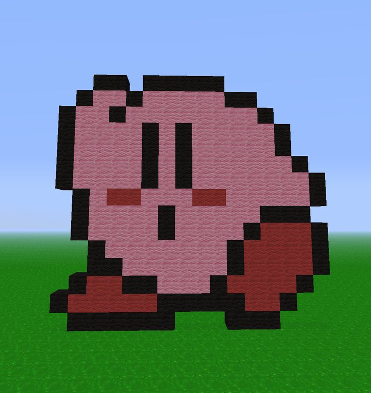 Easy-minecraft-art-kirbykirby-pixel---pixel-art-kirby