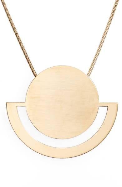 Halogen®️️ Horizon Disc Pendant Necklace /