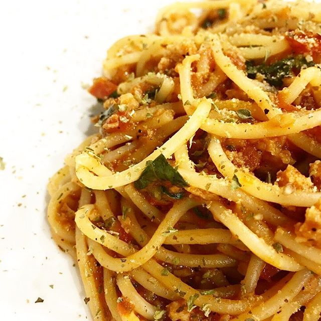 Spaghetti With Tomato Sauce Thyme And Nutritional Yeast Good Healthy Recipes Nutritional Yeast Healthy Recipes