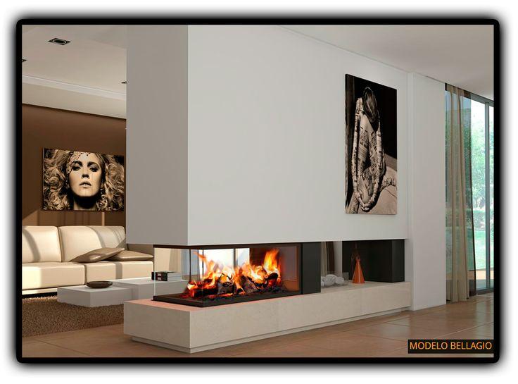 M s de 1000 ideas sobre paredes de galer a de fotos en - Fotos chimeneas modernas ...