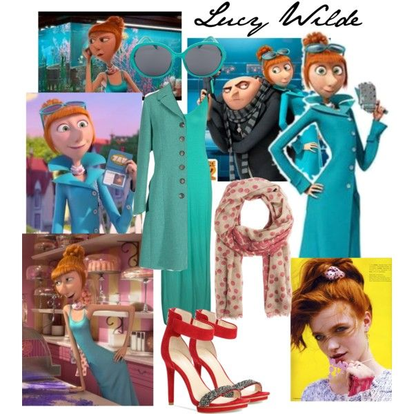 Lucy Wilde by mmarinj16 on Polyvore featuring Boohoo, Aspesi, Calvin Klein, MANGO, A.J. Morgan, despicableme, minions, gru, DespicableMe2 and lucywilde