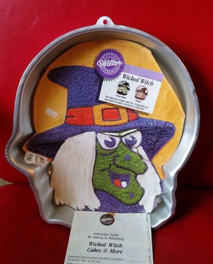wilton wicked witch cake pan pilgrim blackwidow insert directions