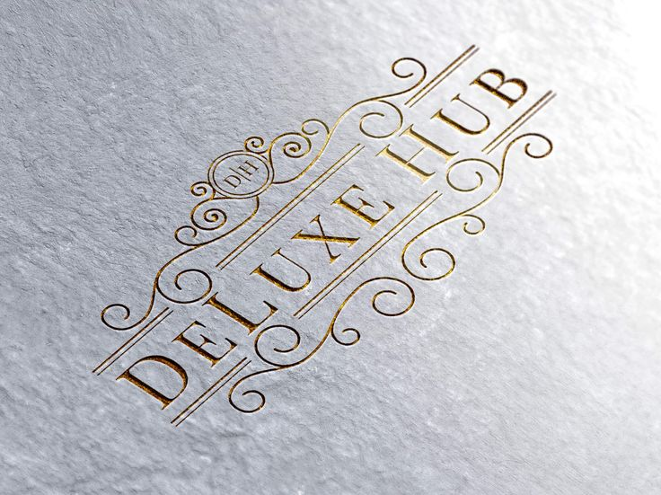 Logo design for DeLuxe Hub by Pink Pigeon Graphic Design © www.pinkpigeon.co.za