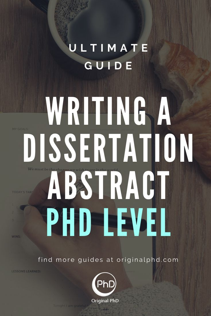 How to write phd abstract