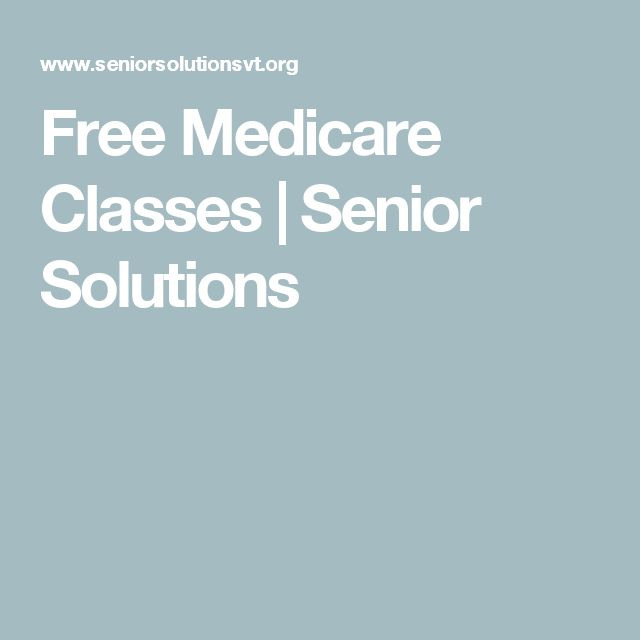 Free Medicare Classes | Senior Solutions