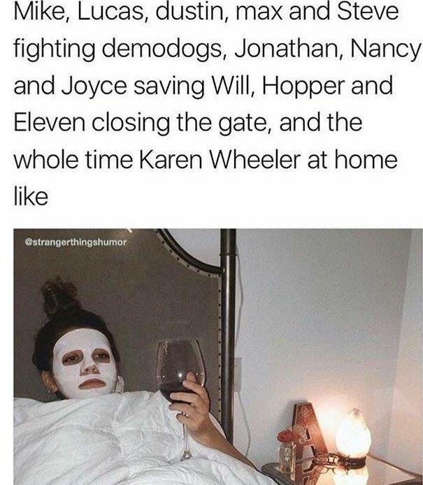 "kinda got triggered when Karen flirted with my boi billy like honey this ain't no ""The boy next door"" shit"