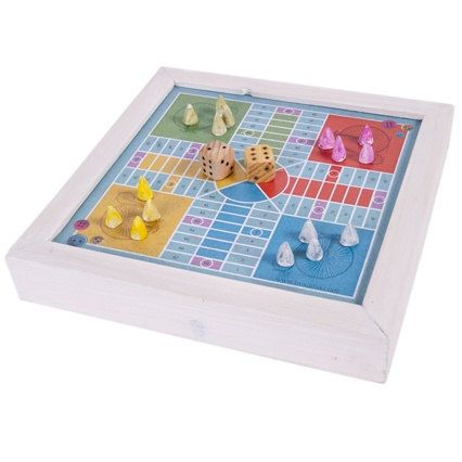 Vintage Ludo Parchis  Parcheesi board game made in wood by buxaina, €19.00