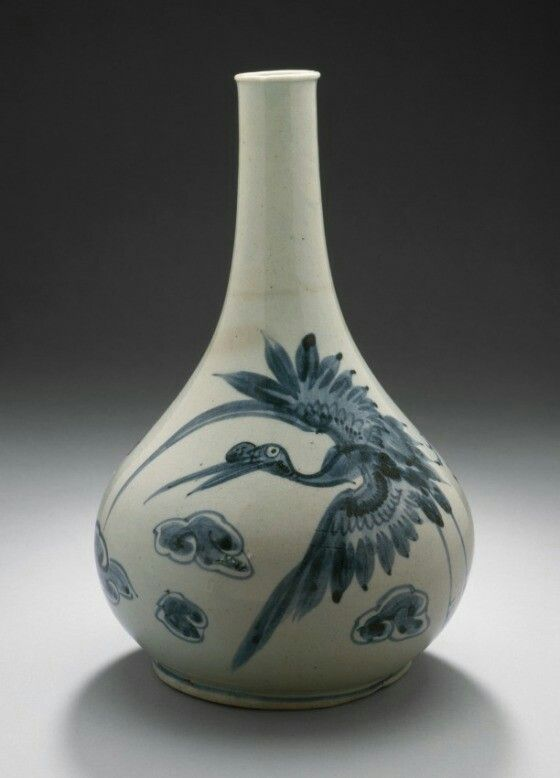 Bottle with Cranes and Clouds  Korean, Korea, Joseon dynasty (1392-1910), 18th century,L.A state museum