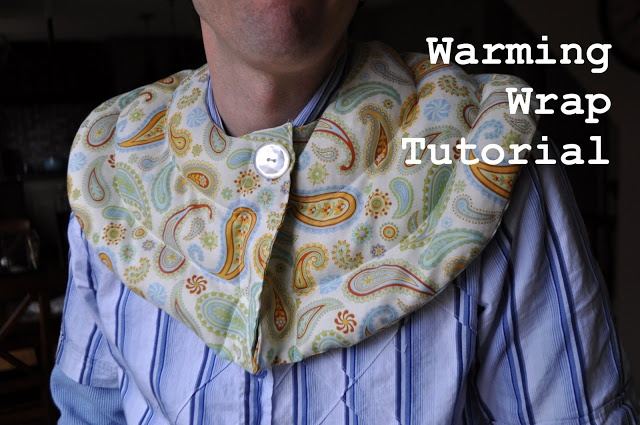 I Am Momma - Hear Me Roar: Warming Wrap Tutorial  -  homemade heating pad for shoulders.  maybe we could wrap it around the neck too?  hot, pain, headaches.  check etsy.    lj