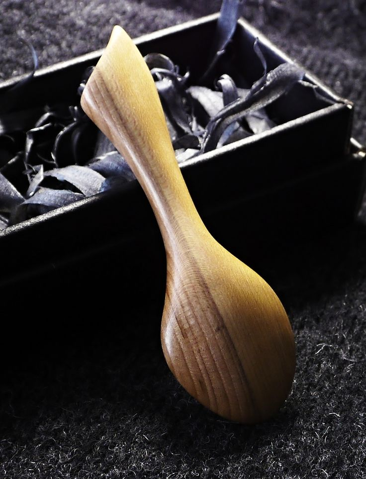 """""""AIKO"""" - Original hand carved wooden small spoon from Plum wood"""