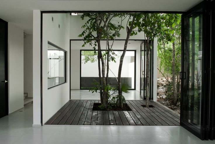 enclosed garden / Casa W41 / Warmarchitects © Zaruhy Sangochian