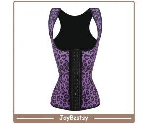 Mulheres Plus Size Workout Shaper Leopard Latex cintura Treinamento Corsets Cincher Vest