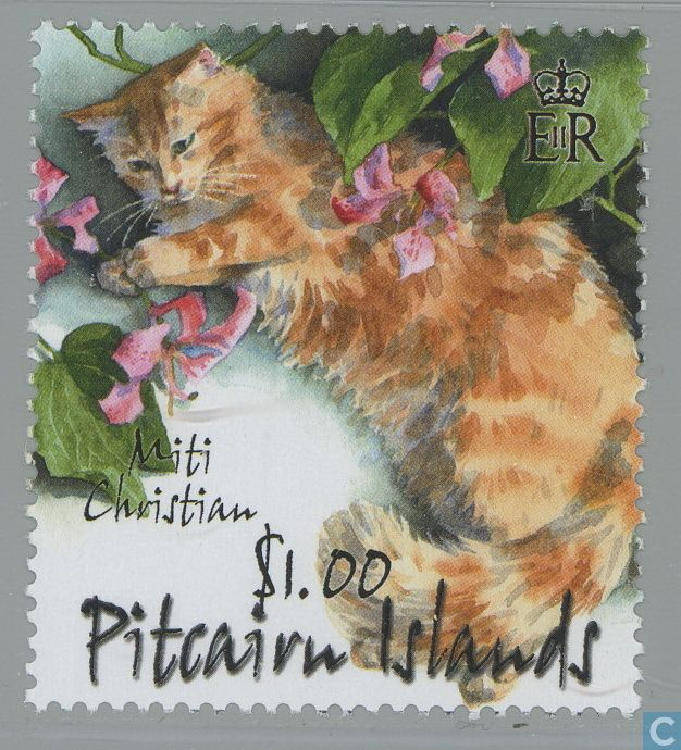 Postage Stamps - Pitcairn - Cats