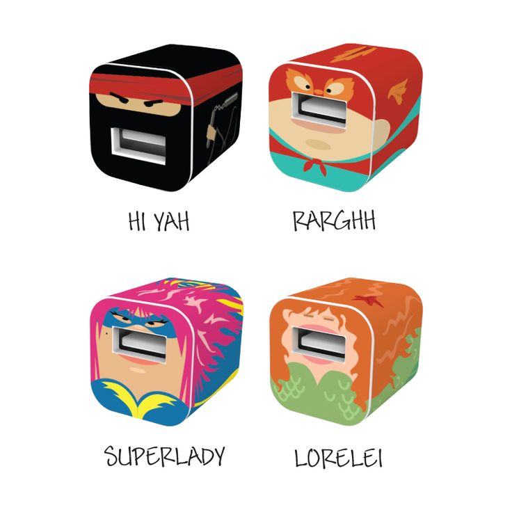 Heroes iPhone Set - because your chargers need some personality and there are SO MANY OF THEM in your house.