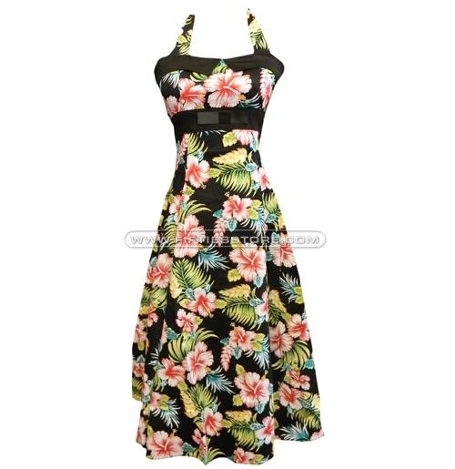 Collectif Anais Doll, Hibiscus Black similar dress see link.