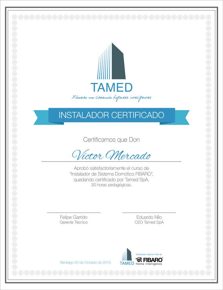 Diseño de diploma. Tamed SpA