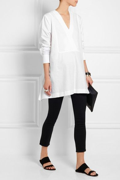 Donna Karan New York | Cotton-blend tunic | NET-A-PORTER.COM