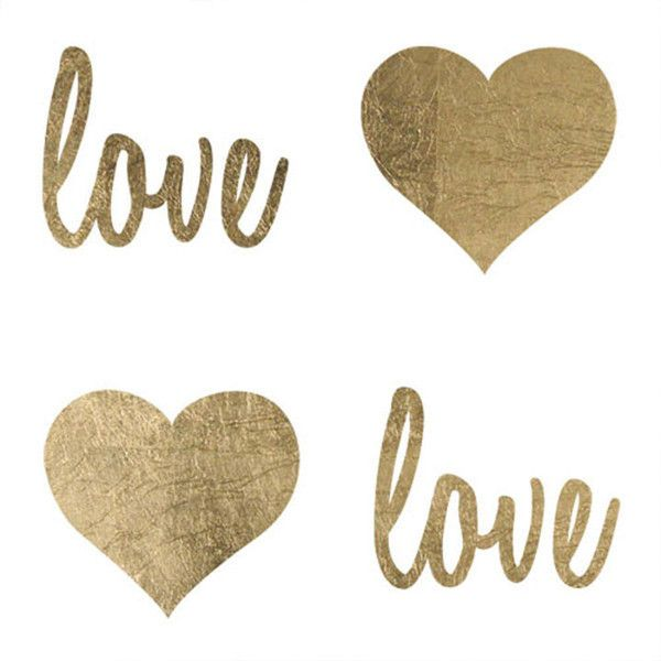 """Love is in the air! This is one beautiful tattoo sheet with two little hearts and """"Love"""" scripts! These designs are small enough to put almost anywhere! Sheet Size: 2.25"""" x 2"""" - Lasts 5-7 days even wi"""